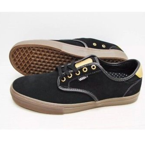 Vans Chima Ferguson Pro Black Gum Gold Skate Shoes fc17cb82c